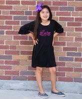 Beary Basics Black 'Spooky' Tunic Dress - Toddler & Girls