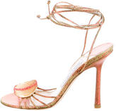 Jimmy Choo Metallic Lace-Up Sandals w/ Tags