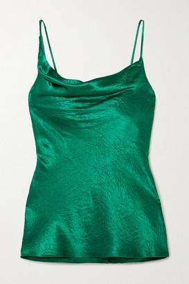 Sies Marjan Amira Draped Crinkled-satin Camisole - Emerald
