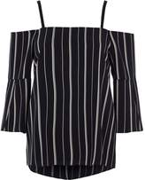 River Island Womens Navy stripe bardot top