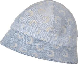 Marine Serre Moon Print Regenerated Denim Bucket Hat
