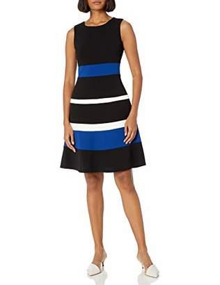 Tommy Hilfiger Women's Stripe Scuba Crepe Swing Dress