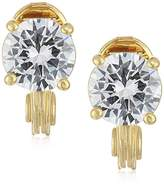 Anne Klein Gold-Tone Cubic Zirconia Stud Clip-On EarringsEarrings