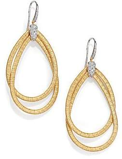 Marco Bicego Women's Cairo Diamond & 18K Yellow Gold Large Double Teardrop Earrings