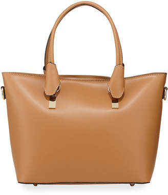 Neiman Marcus Leather Top Handle Tote Bag