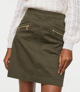LOFT Sateen Zip Skirt