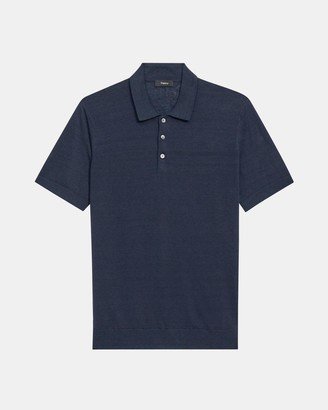 Theory Basic Polo Shirt in Linen Blend
