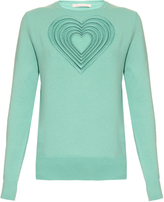 Christopher Kane Love Heart wool and cashmere-blend sweater
