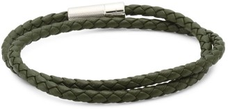 Tateossian Pop Rigato Scoubidou Silver & Leather Braided Bracelet