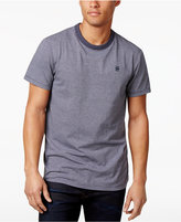 G Star Men's Vendak Stripe Logo Cotton T-Shirt
