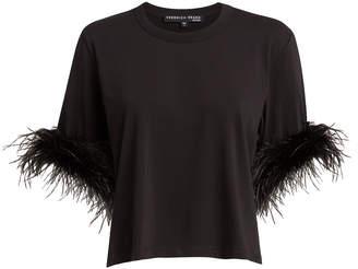 Veronica Beard Wanda Feather-Trimmed T-Shirt