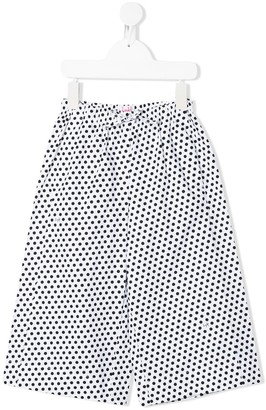 Il Gufo Polka-Dot Wide Leg Trousers