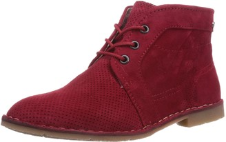 Marc Shoes Womens 1.643.11-29/650-Roxana Cold Lined Desert Boots Short Length Red Rot (red 650) Size: 8
