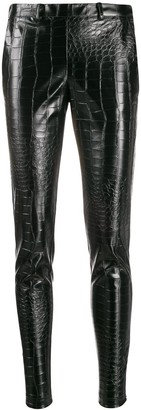 Giamba Crocodile Embossed Trousers