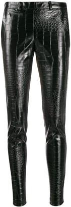 Giamba crocodile embossed trousers