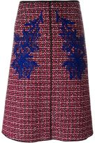 Marc Jacobs tweed skirt with guipure insets - women - Silk/Wool - 8