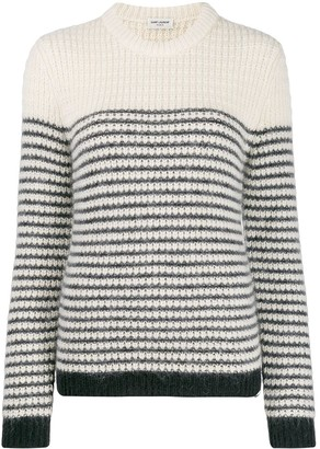 Saint Laurent Striped Crew Neck Jumper