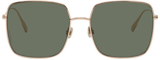 Christian Dior Rose Gold and Green DiorStellaire1 Sunglasses