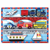 Melissa & Doug Chunky Wooden Vehicles Puzzle