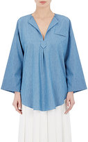 Nomia Women's Chambray Oversized Tunic-BLUE