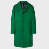 Paul Smith Men's Green Wool Top Coat