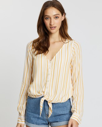 Hollister Long Sleeve Fashion Top