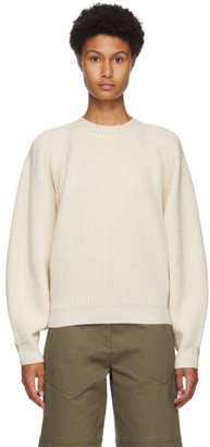 Isabel Marant White Cashmere and Wool Billie Sweater