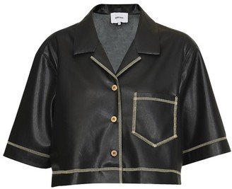 Nanushka Vegan leather Rhett jacket