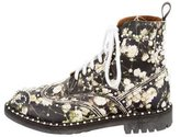 Givenchy Embellished Floral Print Boots