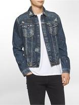 Calvin Klein Vintage Distressed Trucker Jacket