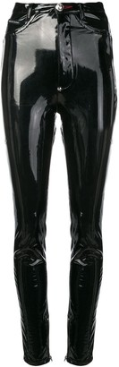 Philipp Plein Skinny Vinyl Trousers