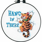 Dimensions Stamped Cross Stitch, Hang in There