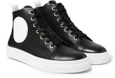 Mcq Alexander Mcqueen - Chris Panelled Leather High-top Sneakers