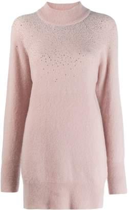 Blumarine Strass Turtleneck Sweater