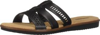 Clarks Women's Kele Willow Slide Sandal tan Leather 065 M US