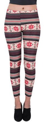 Aerusi Women's Four Points Design Full Length Stretchy Leggings