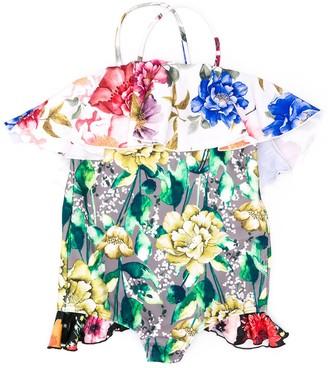 Wolf & Rita Multi-Floral Ruffled Swimsuit