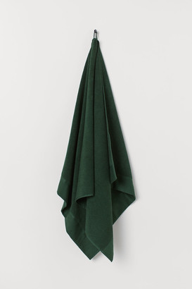 H&M Cotton Terry Bath Towel - Green