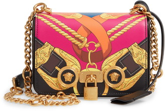 Versace Mini Icon Leather Shoulder Bag