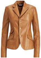 Ralph Lauren Alastair Nappa Leather Jacket Butterscotch 4