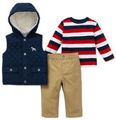 Little Me Baby Boys Three-Piece Jacket, Pants and Knit Top Set