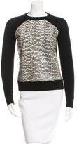 Jason Wu Snakeskin & Wool Sweater