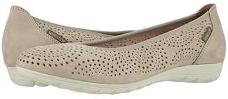 Mephisto Elsie Perf (Light Taupe Bucksoft) Women's Slip on Shoes