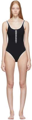 Burberry Black Zeta One-Piece Swimsuit