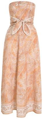 Zimmermann Brighton Tie Waist Midi Dress