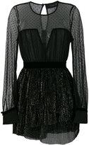 Christian Pellizzari tulled layer mini dress