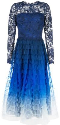 Tadashi Shoji ombré flared dress