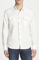 Lucky Brand Men's Classic Fit Linen Western Shirt