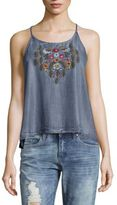 Saks Fifth Avenue Mical Embroidered Top