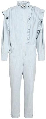Etoile Isabel Marant Gayle Ruffled Cotton Denim Jumpsuit